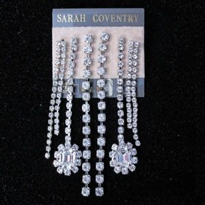 Sara Coventry silver earrings